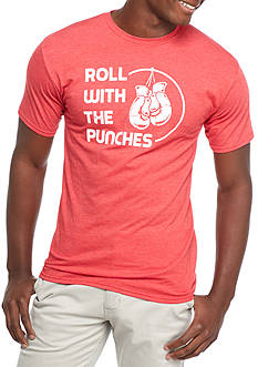Red Camel® Short Sleeve Roll With The Punches Crew Neck Graphic Tee