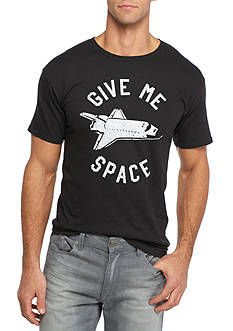 Red Camel® Short Sleeve Give Me Space Crew Neck Graphic Tee