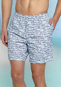 Ocean & Coast Fish Print Water Shorts