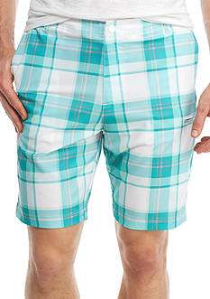 Red Camel® Plaid Hybrid Utility Shorts