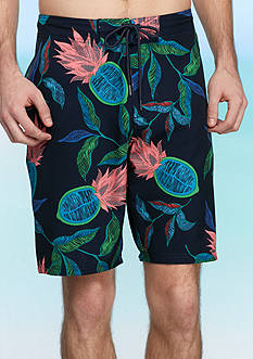 Red Camel® Neon Pineapple 4-Way Stretch Board Shorts