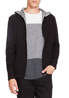 Kenneth Cole Long Sleeve Reversible Hoodie