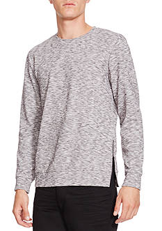 Kenneth Cole Side Zip Crew Neck Shirt