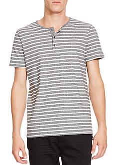 Kenneth Cole Short Sleeve Marled Stripe Henley
