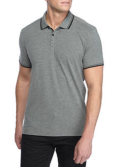 Kenneth Cole Short Sleeve Polo With Tipping