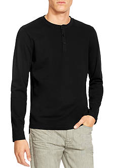 Kenneth Cole Long Sleeve Honeycomb Henley