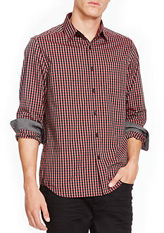 Kenneth Cole Long Sleeve Gingham Button Down Shirt