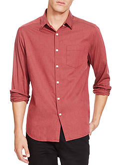 Kenneth Cole Long Sleeve Solid Flannel Shirt