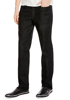 Kenneth Cole Straight Fit Black Stretch Jeans
