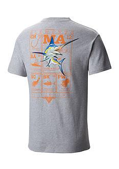 Columbia Big & Tall PFG Elements Marlin™ Short Sleeve Graphic Tee