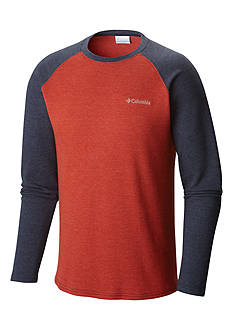 Columbia Big & Tall Ketring™ Raglan Waffle Long Sleeve Shirt