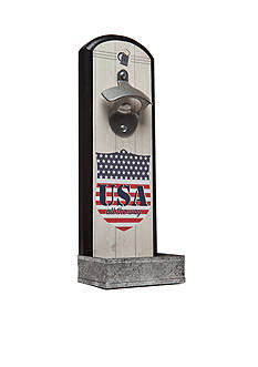 Wembley™ USA Plaque Cool Catch Bottle Opener