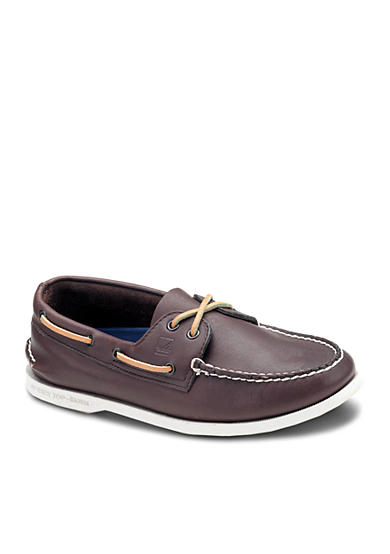 Sperry® Leather A/O Brown Casual Lace-Up-Extended Sizes Available