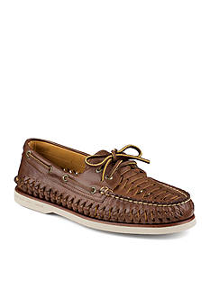 Sperry Gold Woven Boat Shoe