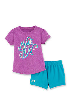Under Armour 2-Piece Made To Play Tee and Short Set