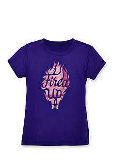 Under Armour® Short Sleeve 'Fired Up' Top Toddler Girls