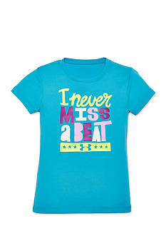 Under Armour® Short Sleeve 'I Never Miss A Beat' Top Toddler Girls
