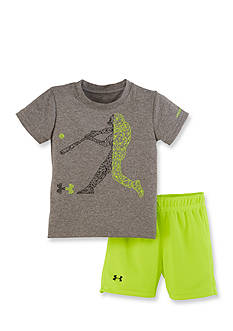 Under Armour 2-Piece Baseball Tee and Short Set