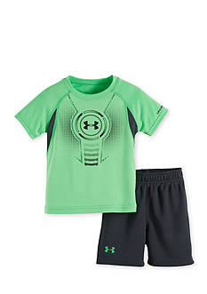 Under Armour 2-Piece Logo Shield Tee and Mesh Shorts Set