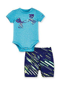 Under Armour 2-Piece Lumos Bodysuit and Bike Short Set