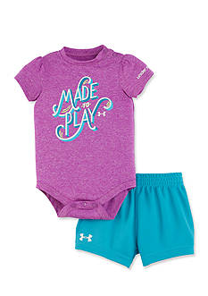 Under Armour 2-Piece Made To Play Bodysuit and Shorts Set