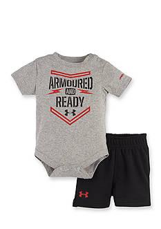 Under Armour 2-Piece Bodysuit and Shorts Set