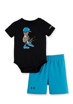 Under Armour 2-Piece Peanut Baseball Bodysuit and Short Set