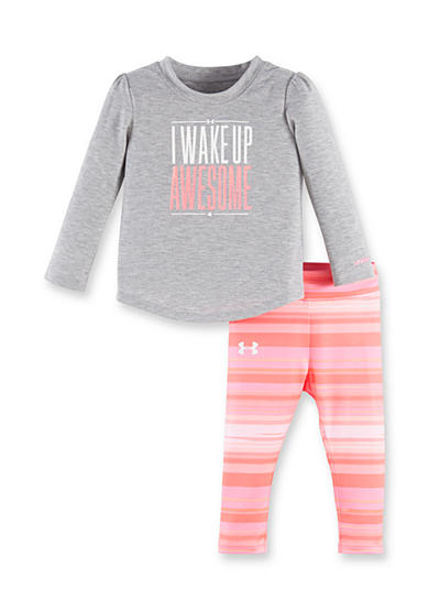 Under Armour® 2-Piece 'Wake Up Awesome' Tee and Capri Legging Set