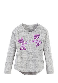 Under Armour Pop Dazzle Cropped Logo Top Toddler Girls