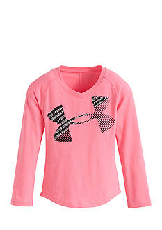 Under Armour Scripto Cropped Logo Shirt Toddler Girls