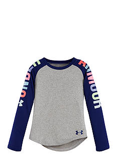 Under Armour Rainbow Wordmark Raglan Toddler Girls