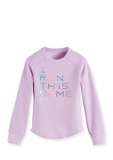 Under Armour® I Run This Game Long Sleeve Waffle Tee Toddler Girls