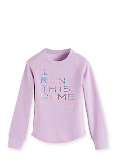 Under Armour I Run This Game Long Sleeve Waffle Tee Toddler Girls