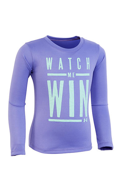 Under Armour® 'Watch Me Win' Long Sleeve Tee Toddler Girls