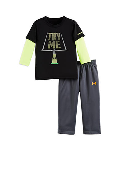 Under Armour® 2-Piece 'Try Me' Tee and Pant Set Toddler Boys