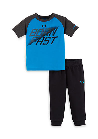 Under Armour® 2-Piece 'Born Fast' Tee and Jogger Pants Set