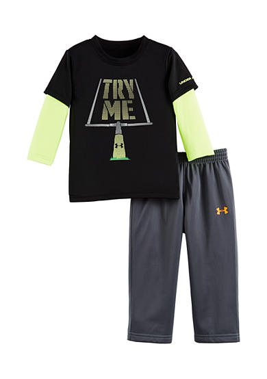 Under Armour® 2-Piece Long Sleeve 'Try Me' Tee and Pant Set