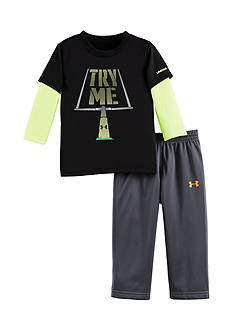 Under Armour 2-Piece Long Sleeve 'Try Me' Tee and Pant Set