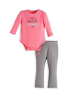 Under Armour® 2-Piece 'You Sweat I Sparkle' Tee and Pants Set