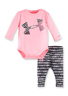 Under Armour® Wordmark Script 2-Piece Bodysuit and Pant