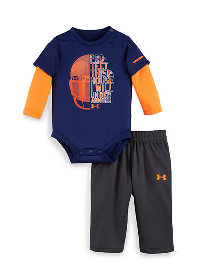 Under Armour® 2-Piece 'Protect This House' Bodysuit and Pants Set
