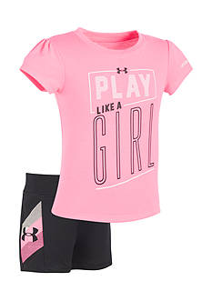 Under Armour® 2-Piece 'Play Like A Girl' Shirt and Short Set
