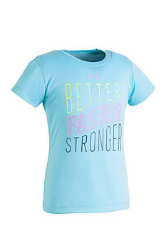 Under Armour® 'Better Faster Stronger' Screen Tee Toddler Girls