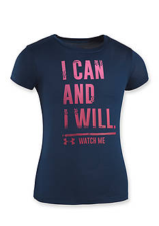 Under Armour 'I Can and Will' Graphic Tee Toddler Girls