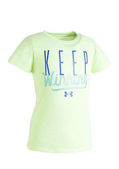 Under Armour® 'Keep Winning' Screen Tee Toddler Girls