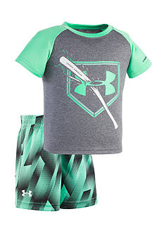 Under Armour® 2-Piece Breaking Bat Shirt and Short Set