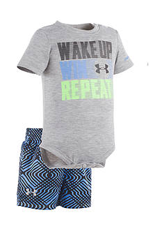 Under Armour® 2-Piece 'Wake Up Win Repeat' Bodysuit and Short Set