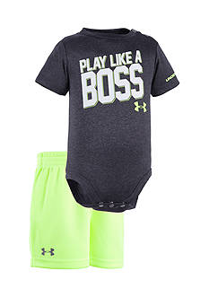 Under Armour 2-Piece 'Play Like A Boss' Bodysuit and Short Set