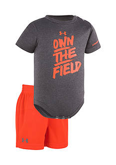 Under Armour® 2-Piece 'Own The Field' Bodysuit and Short Set