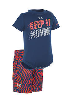 Under Armour® 2-Piece 'Keep It Moving' Bodysuit and Short Set K